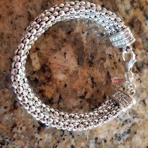 Silpada Jewelry - Silpada B1210 sterling 3 strand popcorn bracelet
